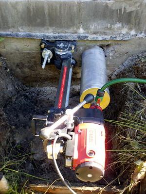 технологическое отверстие для водоотведения
