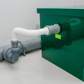 Жироуловитель кубический из пластика под мойку