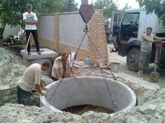 канализация для дачи своими руками - монтаж бетонного кольца